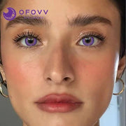 Ofovv® Cheap Prescription Elf Purple Colored Contact Lenses Online Store(1 YEAR)