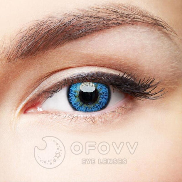 Ofovv® Cheap Prescription Elf Blue Colored Contact Lenses Online Store(1 YEAR)