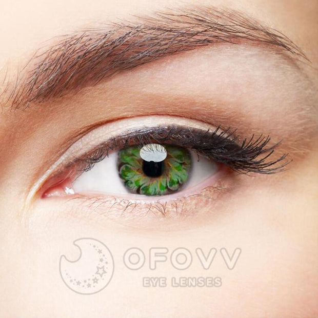 Ofovv® Eye Circle Lens Lolly Green Colored Contact Lenses V6154(1 YEAR)