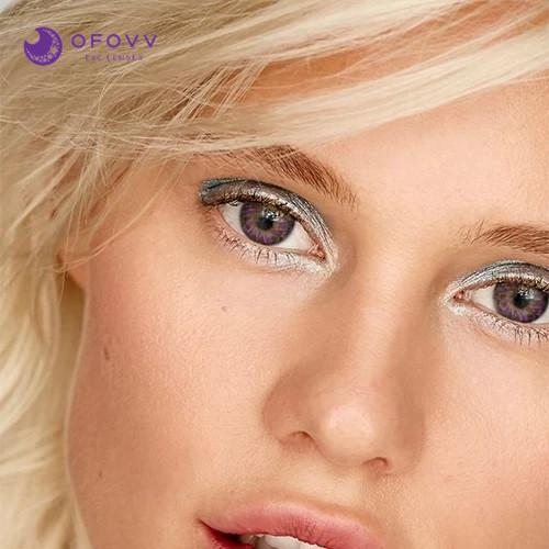 Ofovv® Eye Circle Lens Lolly Purple Colored Contact Lenses V6158(1 YEAR)