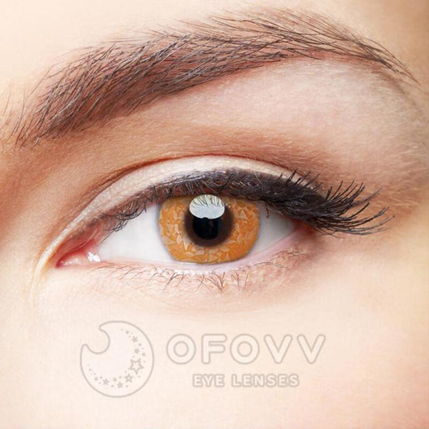 Ofovv® Eye Circle Lens Macadam Brown Colored Contact Lenses V6163(1 YEAR)
