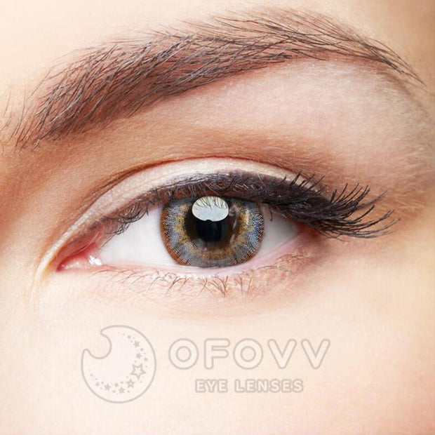 Ofovv® Eye Circle Lens Pony Grey-Brown Colored Contact Lenses V6170(1 YEAR)