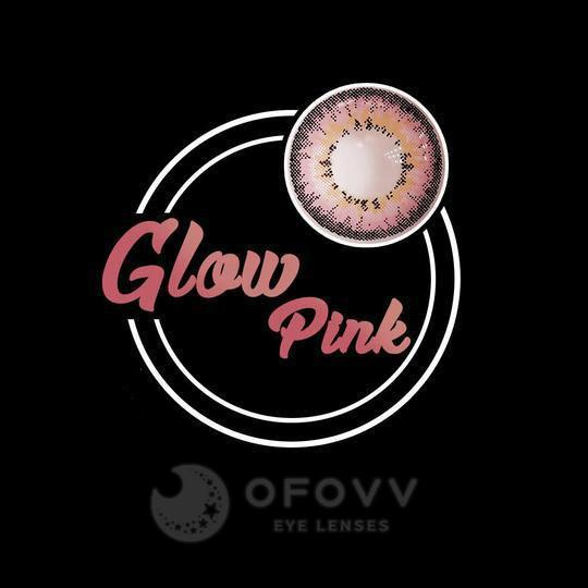 Ofovv® Cheap Prescription Glow Pink Colored Contact Lenses Online Store(1 YEAR)