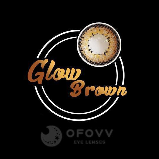 Ofovv® Cheap Prescription Glow Brown Colored Contact Lenses Online Store(1 YEAR)