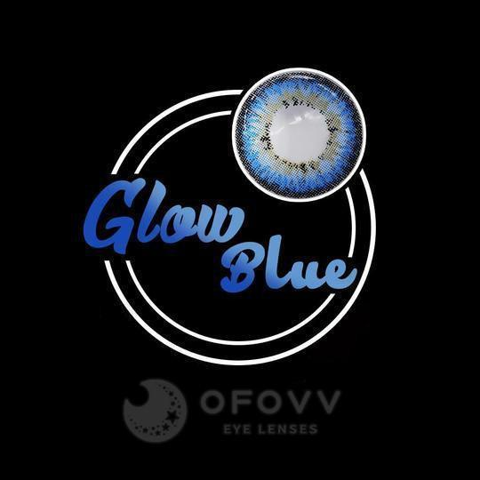 Ofovv® Cheap Prescription Glow Blue Colored Contact Lenses Online Store(1 YEAR)