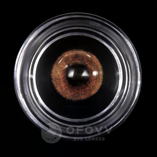 Ofovv® Cheap Prescription Amber Brown Colored Contact Lenses Online Store(1 YEAR)