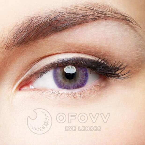 Ofovv® Cheap Prescription Donut Purple Colored Contact Lenses Online Store(1 YEAR)