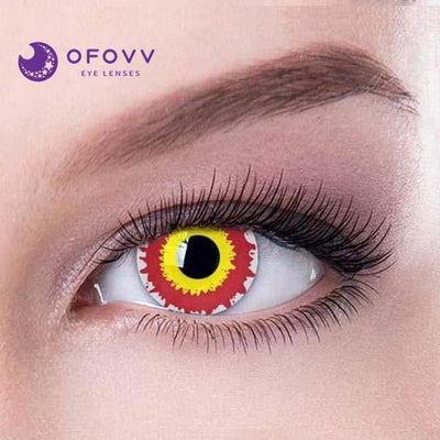 Ofovv® Cheap Non Prescription And Prescription Evil Sith Special Effect Colored Contact Lenses Online Store(1 YEAR)