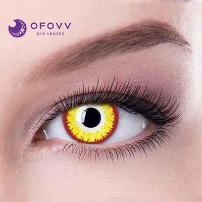Ofovv® Cheap Non Prescription And Prescription Gold Vampire Special Effect Colored Contact Lenses Online Store(1 YEAR)