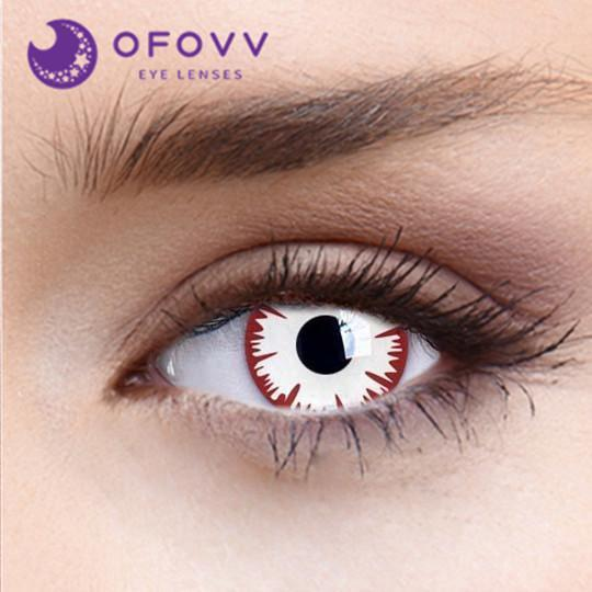 Ofovv® Cheap Non Prescription And Prescription Infected Zombie Special Effect Colored Contact Lenses Online Store(1 YEAR)