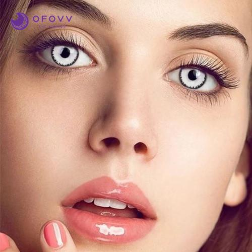 Ofovv® Cheap Prescription White Zombie Special Effect Colored Contact Lenses Online Store(1 YEAR)