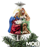 Alien Nativity Glass Tree Topper