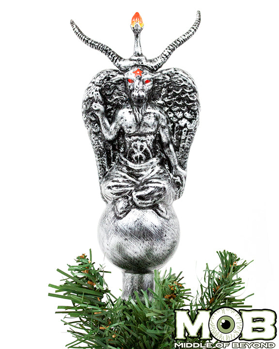 Christmas Tree Topper.Baphomet Glass Tree Topper
