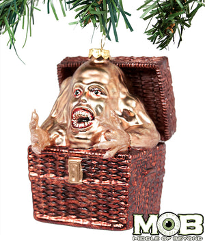Basket Case Glass Ornament
