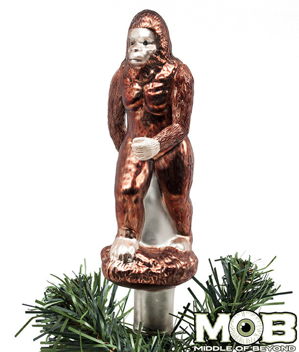 Bigfoot Sasquatch Glass Tree Topper – Middle of Beyond