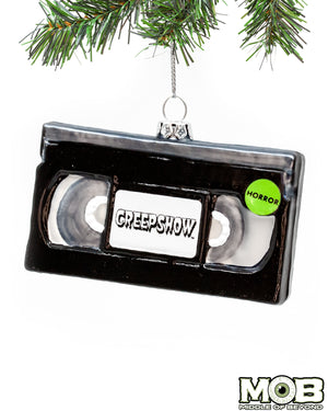 Creepshow VHS Glass Ornament
