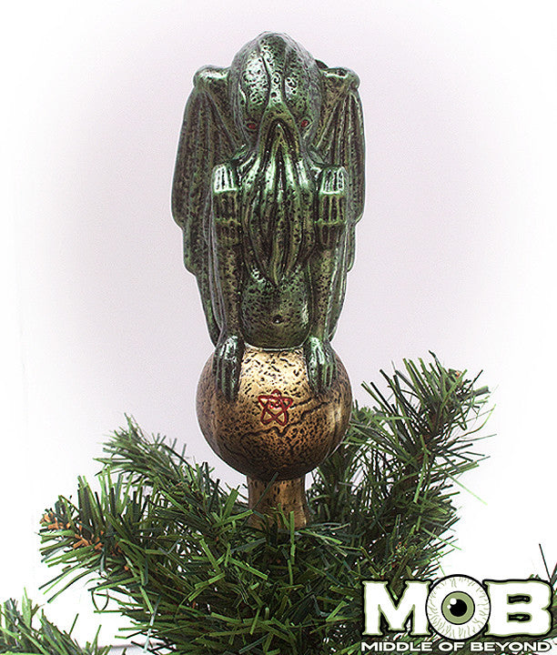 Christmas Tree Topper.Cthulhu Glass Tree Topper