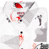 DEVO Leisure Wear Short Sleeve Button-Up Shirt