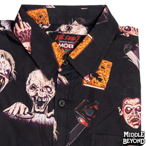 Evil Dead 2 Short Sleeve Button-Up Shirt Version 2