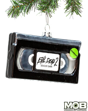 Evil Dead 2 VHS Glass Ornament