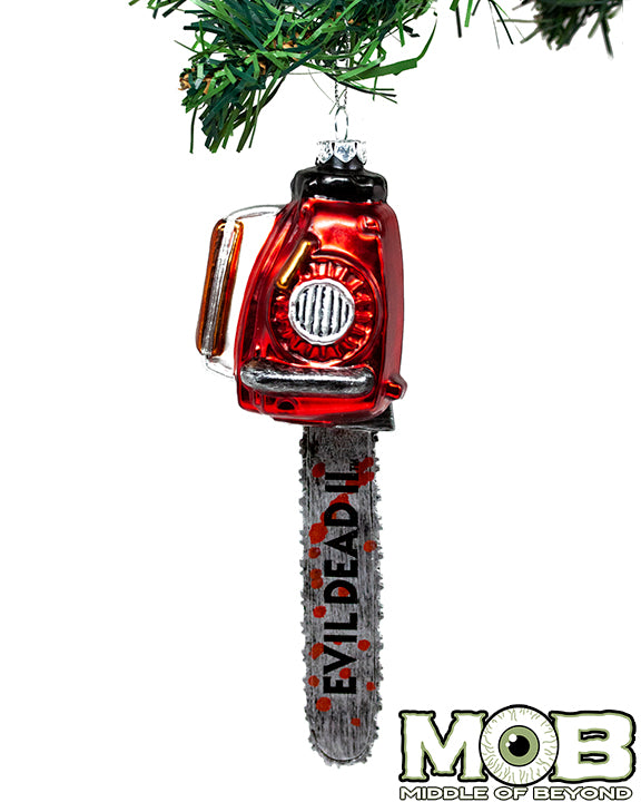 Evil Dead 2 Chainsaw Glass Ornament