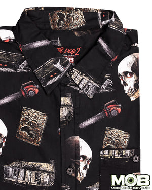 Evil Dead 2 Short Sleeve Button-Up Shirt