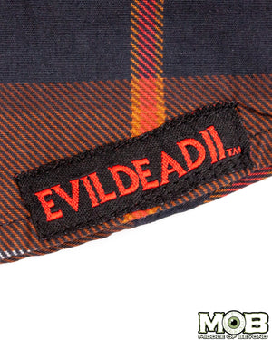 Evil Dead 2 Plaid Short Sleeve Button-Up Shirt