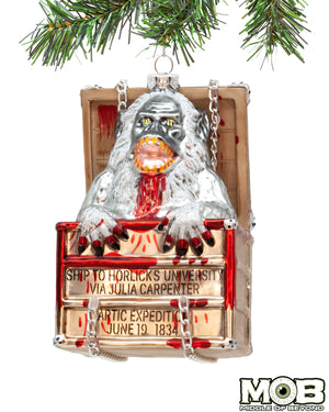 Creepshow The Crate Glass Ornament