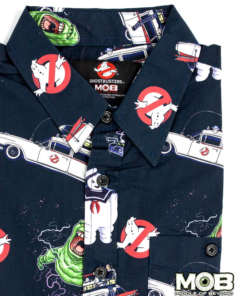 Ghostbusters Short Sleeve Button-Up Shirt
