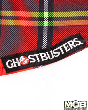 Ghostbusters Plaid Short Sleeve Button-Up Shirt