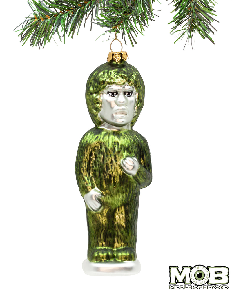 Twilight Zone - Nightmare at 20,000 Feet Gremlin Glass Ornament- Green