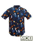 Halloween Short Sleeve Button-Up Shirt