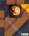 Halloween Plaid Short Sleeve Button-Up Shirt