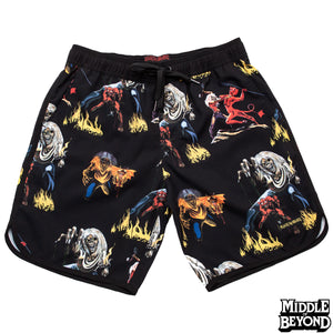 Iron Maiden Number of the Beast Hybrid Shorts