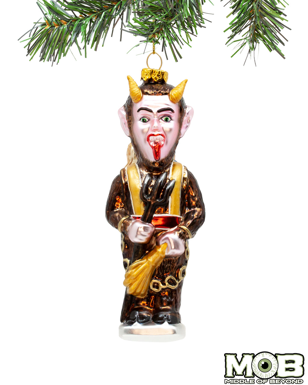 Krampus The Christmas Devil Glass Ornament- Standing