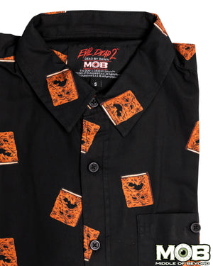 Evil Dead 2 Necronomicon Short Sleeve Button-Up Shirt