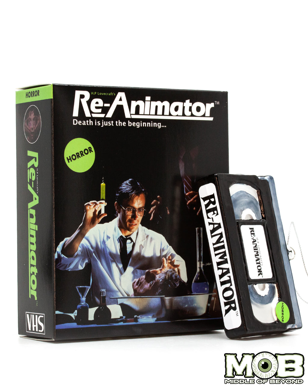 Re-Animator VHS Glass Ornament