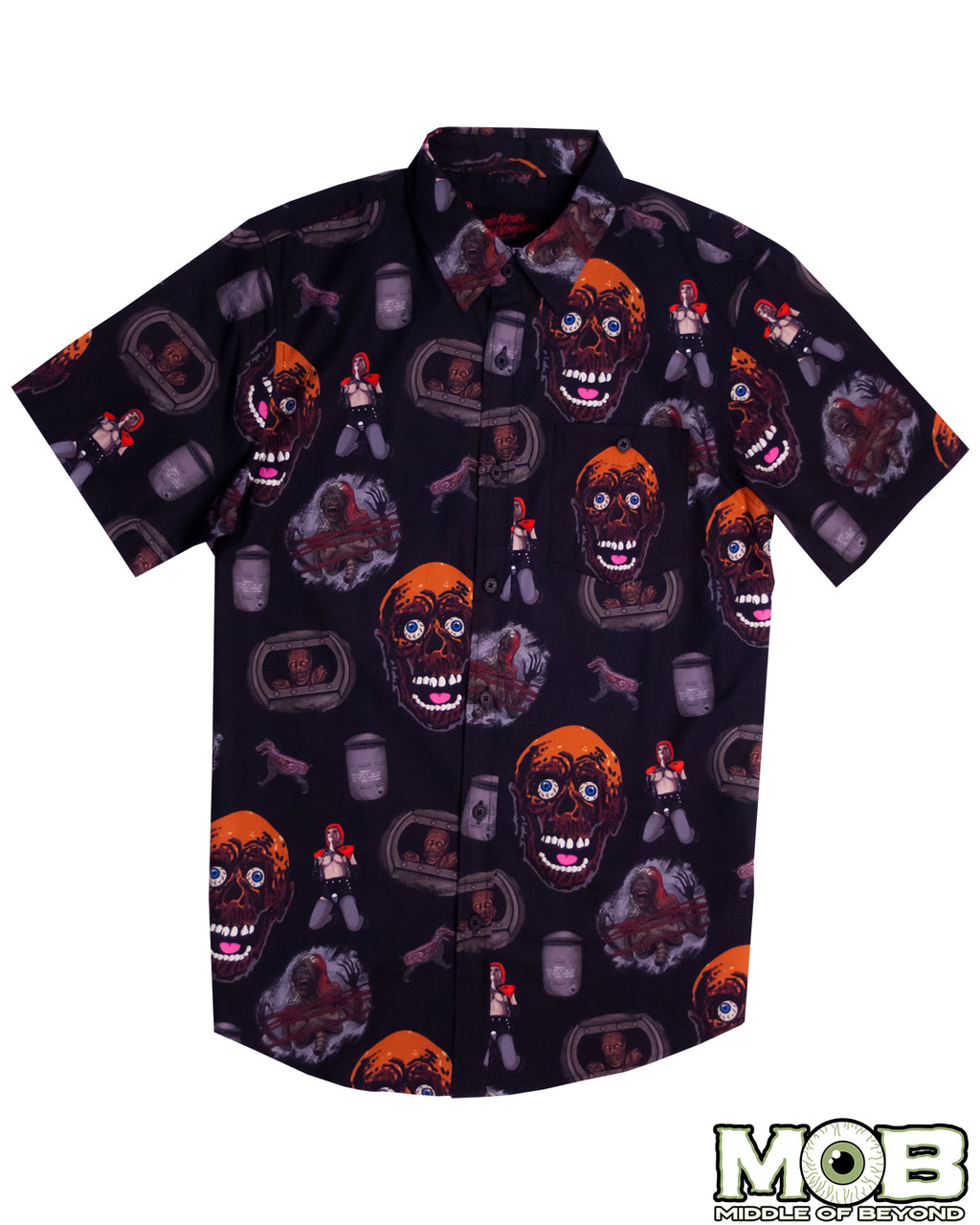 Return of the Living Dead Short Sleeve Button-Up Shirt Version 1