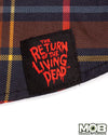 Return of the Living Dead Plaid Short Sleeve Button-Up Shirt