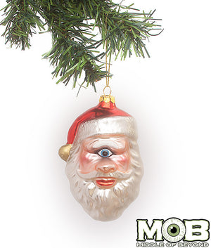 One-eyed Saint Nick Glass Ornament