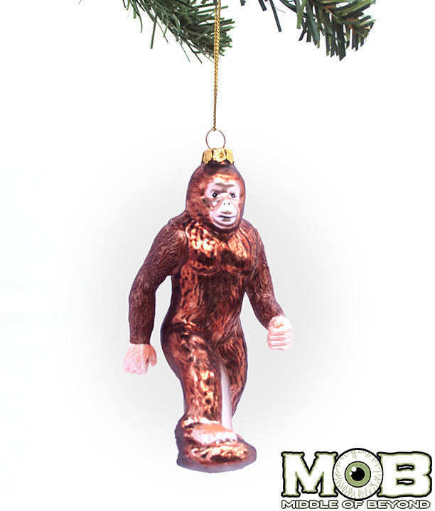 Bigfoot Sasquatch Glass Ornament