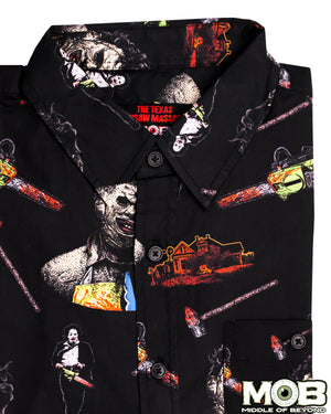 The Texas Chainsaw Massacre Short Sleeve Button-Up Shirt