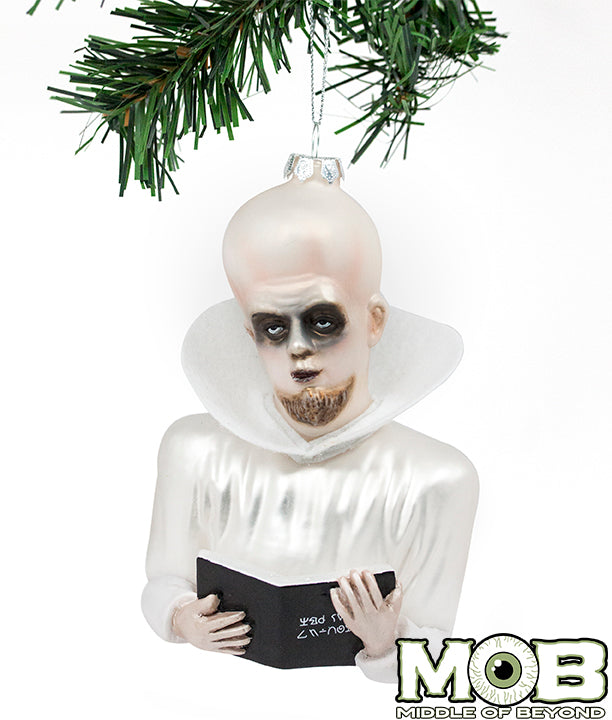 Twilight Zone - To Serve Man Kanamit Glass Ornament