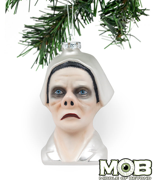 Twilight Zone - Eye of the Beholder Nurse Glass Ornament