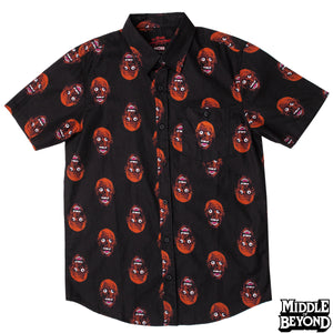 Return of the Living Dead Tarman Short Sleeve Button-Up Shirt