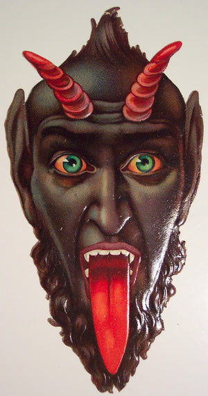 Krampus The Christmas Devil Wall Plaque