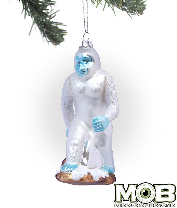 Yeti Abominable Snowman Glass Ornament – Middle of Beyond