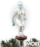 Yeti Abominable Snowman Glass Tree Topper