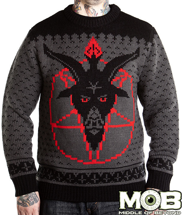 Goat Head Pentagram Sweater