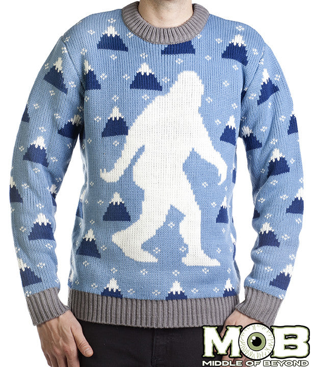 Yeti Abominable Snowman Holiday Sweater